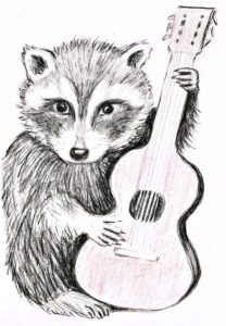 Gitarrenwaschbär